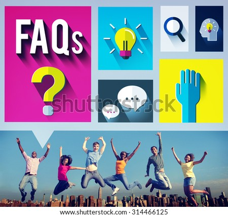 Frequently Asked Questions Help Information Answer Concept - stock photo