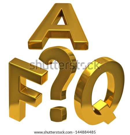 Frequently asked questions icon - stock photo