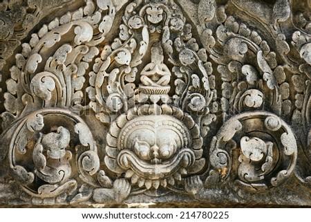 Fresco Angkor Wat/ Angkor Thom. Cambodia - stock photo