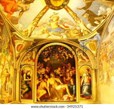 Fresco in Palazzo Vecchio, Florence, Italy - stock photo