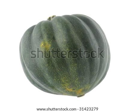 Fresh accorn winter squash isolated on white background - stock photo