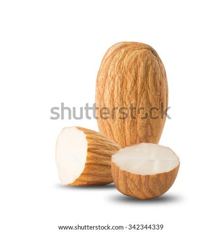 Fresh Almond - stock photo