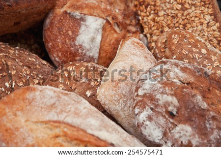 fresh and crusty bread as a texture - stock photo