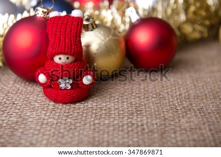 fresh and delicious cookies and christmas ornaments - stock photo