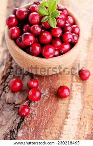 fresh and delicious cranberries - fruits and vegetables - stock photo