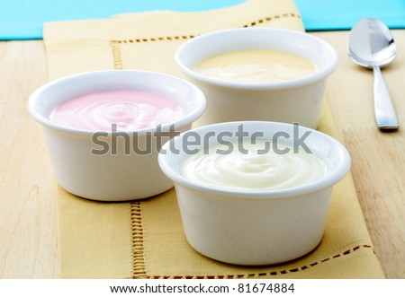 fresh and delicious creamy yogurt, healthy smooth snack