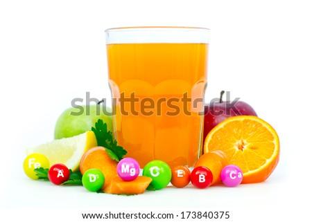 Fresh and healthy multivitamin juice - stock photo