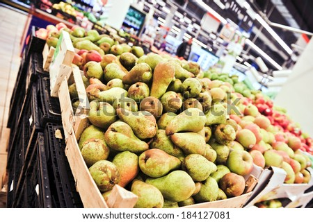 Fresh and mature pears - stock photo