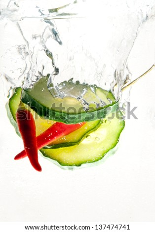 fresh and spicy - stock photo