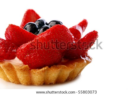 fresh and sweet dessert cakes - stock photo