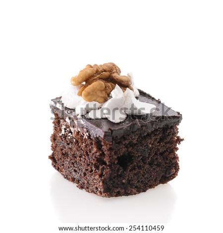 Fresh and Sweet Dessert Cakes Isolated on White Background - stock photo