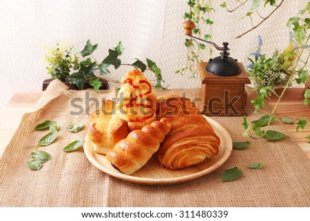 Fresh and tasty breads - stock photo