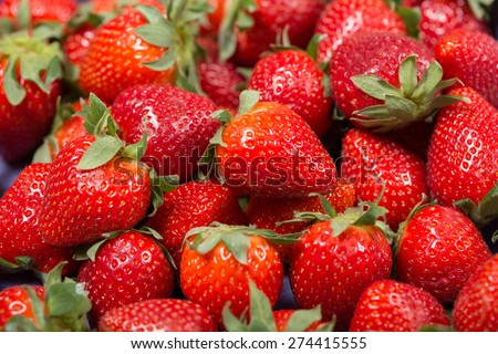 fresh and tasty red strawberries make you think about summer