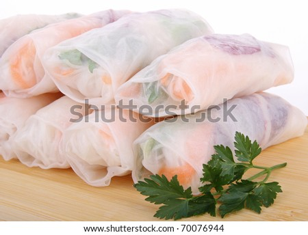 fresh and vegetable spring roll