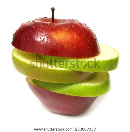 Fresh apple   - stock photo