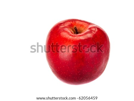 Fresh apple isolated on the white background - stock photo