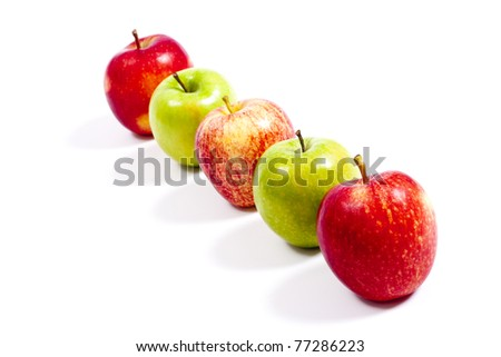 Fresh apple on white background