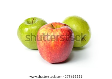 fresh apples isolated on white background