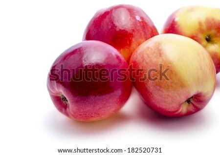 fresh apples on a white background - stock photo