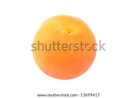 Fresh apricot isolated on white background. - stock photo
