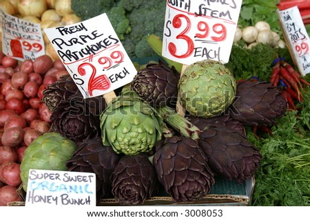Fresh Artichoke - stock photo