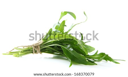 Fresh arugula, isolated on white