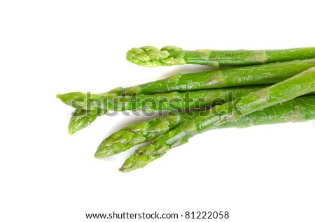 Fresh asparagus isolated on a white background