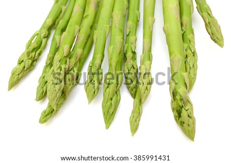 fresh asparagus officinalis isolated on white background