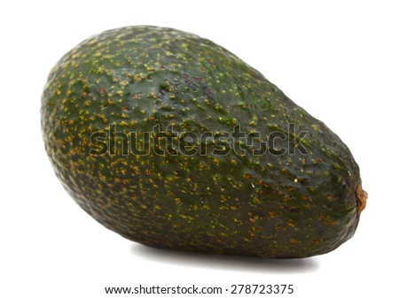 fresh avocado isolated on white background  - stock photo