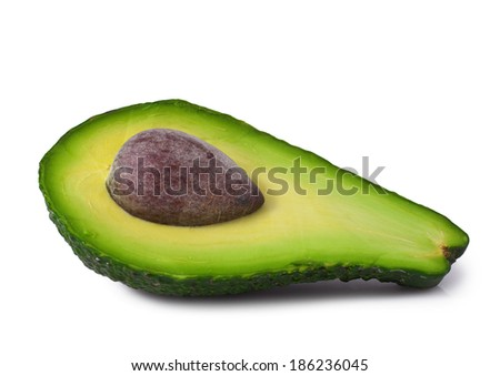 Fresh avocado on white background