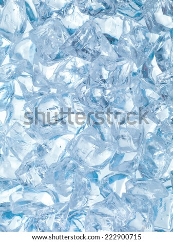 fresh background made of ice cubes  - stock photo