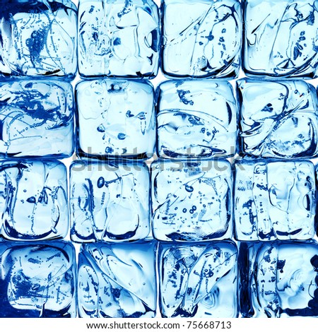 fresh background made of ice cubes
