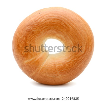 Fresh Bagel Isolated on a White Background - stock photo