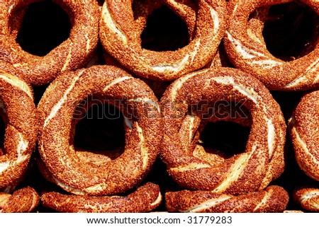Fresh Bagels - stock photo