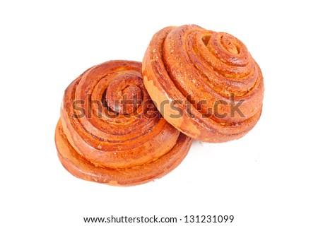 Fresh bake cinnamon rolls - stock photo