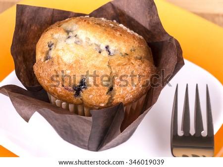 Fresh baked muffin - stock photo