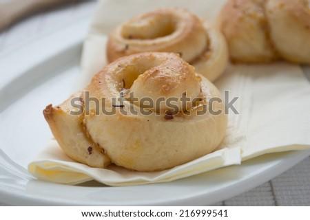 Fresh baked nut pastry - stock photo