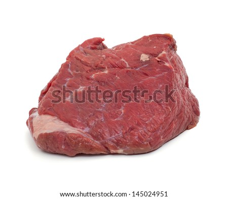 fresh beef meat isolated on white background - stock photo