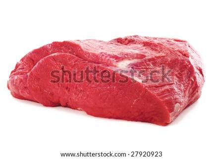 Fresh beef on white background - stock photo