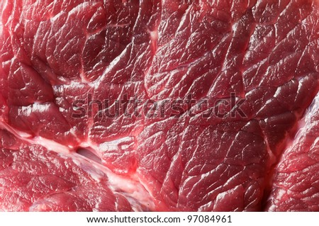 fresh beef piece in closeup - stock photo