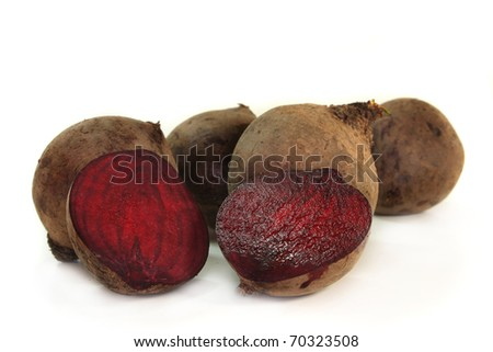 fresh beetroot on a white background - stock photo