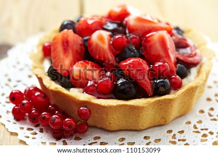 Fresh Berry Tart - stock photo