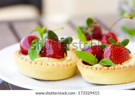 Fresh Berry Tarts - stock photo