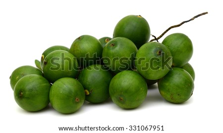 fresh Betel nut fruit isolated on white background