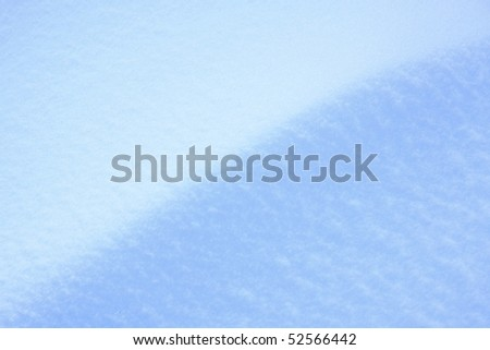 Fresh blue snow background - texture