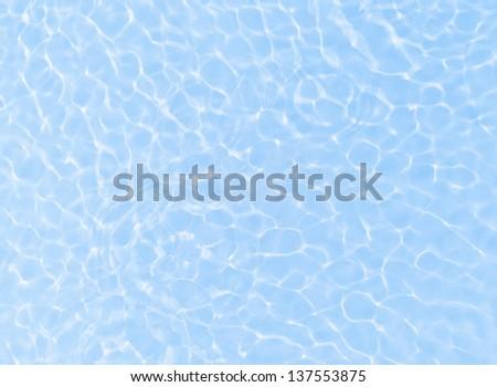 Fresh blue water ripple background - stock photo