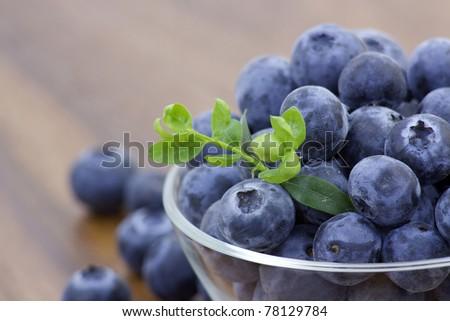 fresh blueberries - stock photo