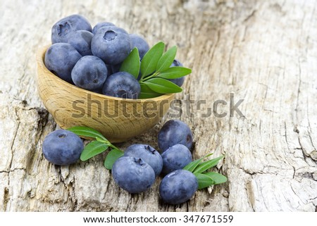 fresh blueberries in a bowl - stock photo