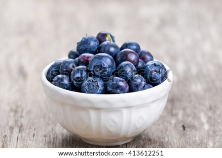 Fresh Blueberry in bowl. concept for healthy eating. - stock photo