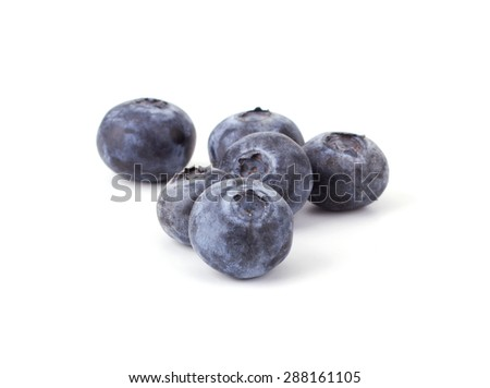 Fresh blueberry isolated on white background closeup - stock photo
